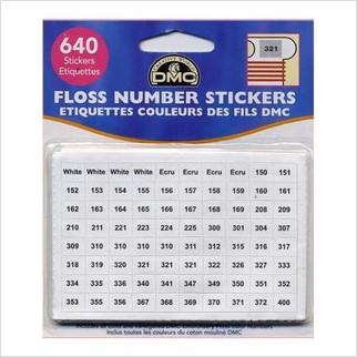 Стикеры с номерами для мулине