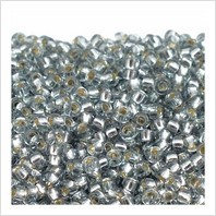 Бисер Round Rocaille 10/0 № 2433 (внутреннее серебрение)