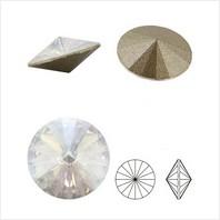 Ювелирные кристаллы Rivoli Ø 16 мм AB