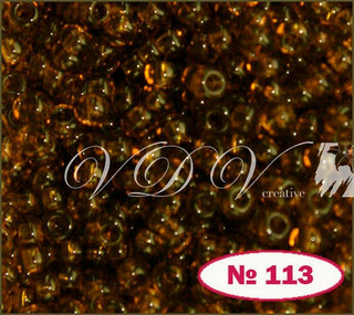 Бисер 11/0 № 113 / 10110 (прозрачный)