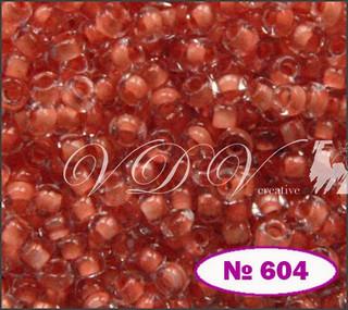 Бисер 10/0 № 604 / 38389 (прокрашенный)