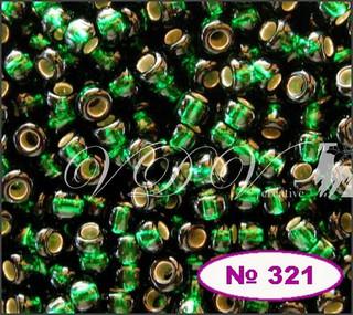 Бисер 10/0 № 57150 / 482 (блестящий с квадратной серединкой)