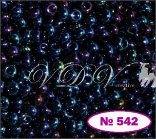 Бісер 10/0 542/59135 (перламутровий (ірис))
