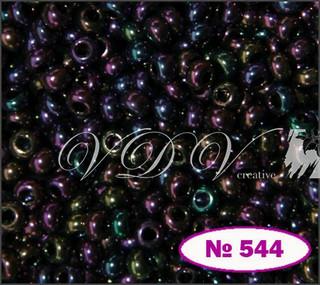 Бисер 10/0 № 544 / 59195 (перламутровый бензиновый (ирис))