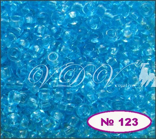 Бисер 10/0 № 123 / 60000 (прозрачный)