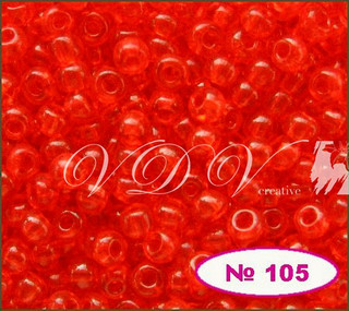 Бисер 10/0 № 105 / 90050 (прозрачный)