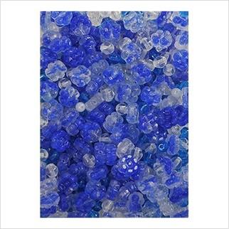 Микс прессованных бусин (голубой, синий)