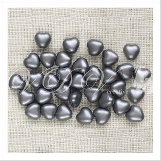Бусины сердечки №02010-25028 (жемчужный матовый)