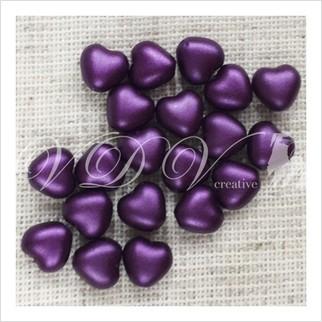 Бусины сердечки №02010-25032 (жемчужный матовый)