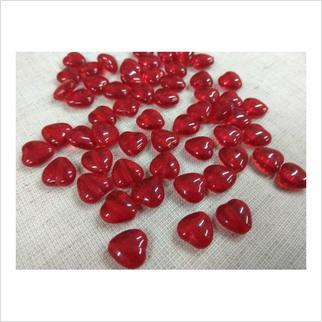 Бусины сердечки №90080 (прозрачный)