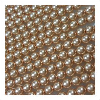 Жемчужные бусины Ø 5 мм на нити