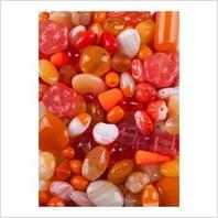 Микс прессованных бусин (оранжевый)