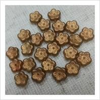 Намистини Квіточки 111-00086-00030-29254 (золоте напилення)