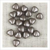 Бусины сердечки №02010-25005 (жемчужный матовый)