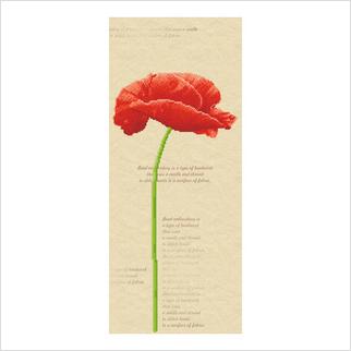 """Ткань со схемой для вышивания бисером """"Красный мак"""""""