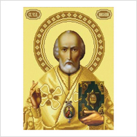 """Ткань со схемой для вышивания бисером """"Св. Николай Чудотворец"""""""