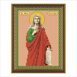 """Ткань со схемой для вышивания бисером """"Св. Анна Пророчица"""""""