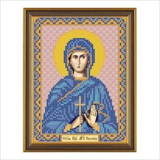"""Ткань со схемой для вышивания бисером """"Св. Прмц. Евгения Римская"""""""