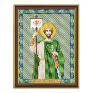 """Ткань со схемой для вышивания бисером """"Св. Равноап. Царь Константин"""""""
