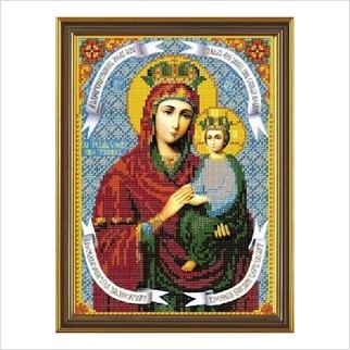 """Ткань со схемой для вышивания бисером """"Богородица «Споручница грешных»"""""""