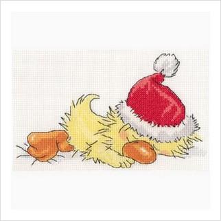 """Набор для вышивания ''Спящий Санта"""""""