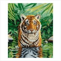 """Набор для вышивания ''Купание тигра"""""""