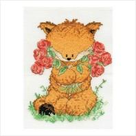 """Набор для вышивания ''Лисенок Тоби с розами"""""""