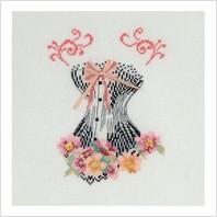Набор для вышивания ''Корсет с розовой лентой
