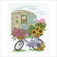 Набор для вышивания ''Велосипед с цветами