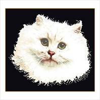 """Набор для вышивания ''Белый персидский кот"""""""