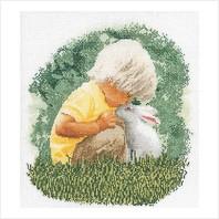"""Набор для вышивания ''Мальчик и кролик"""""""