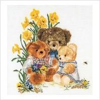 """Набор для вышивания ''Плюшевые медведи"""""""
