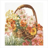 """Набор для вышивания ''Корзина с цветами"""""""