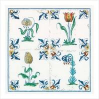 """Набор для вышивания ''Античная плитка с цветами"""""""