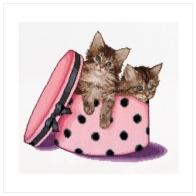 """Набор для вышивания ''Котята-близнецы"""""""
