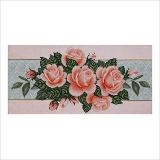 """Ткань с печатью для вышивки бисером """"Розы"""""""