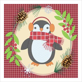 """Заготовка для вышивки подушки мулине """"Пингвин"""""""