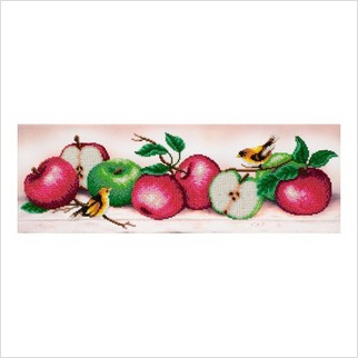"""Ткань с печатью для вышивки бисером """"Яблочный бум"""""""
