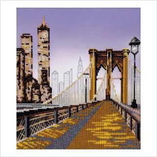 """Ткань с печатью для вышивки бисером """"Манхеттенская мечта"""""""