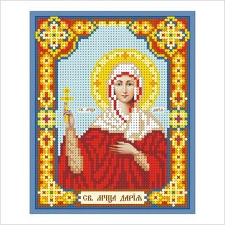 """Ткань с печатью для вышивки бисером иконы """"Святая мученица Дария"""""""