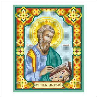 """Ткань с печатью для вышивки бисером иконы """"Святой апостол Матфей"""""""