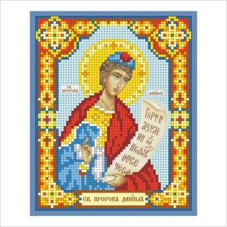 """Ткань с печатью для вышивки бисером иконы """"Святой пророк Даниил"""""""