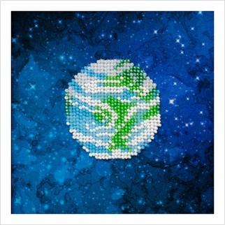 """Ткань с печатью для вышивки бисером """"Земля"""""""