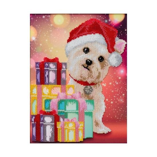 """Ткань с печатью для вышивки бисером """"Новогодние подарки"""""""