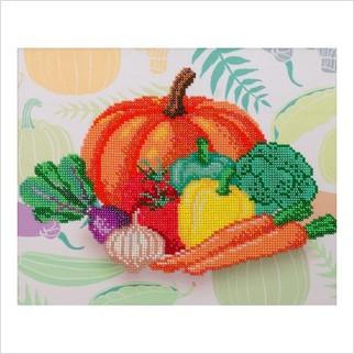 """Ткань с печатью для вышивки бисером """"Овощной урожай"""""""