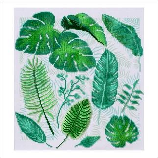 """Ткань с печатью для вышивки бисером """"Тропики"""""""