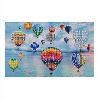 """Ткань с печатью для вышивки бисером """"Воздушные шары"""""""