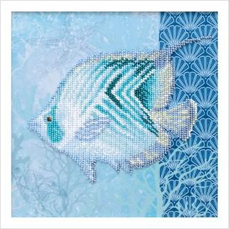 """Ткань с печатью для вышивки бисером """"Морской мир"""""""