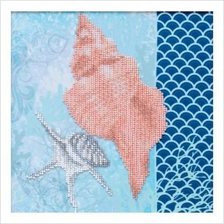 """Ткань с печатью для вышивки бисером """"В объятиях океана"""""""
