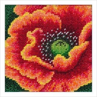 """Ткань с печатью для вышивки бисером """"Пламенный цветок"""""""